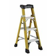 Louisville Ladder FXS1404HD Type Iaa 4 Ft Cross Step Louisville Fiberglass Step To Shelf Ladder-2