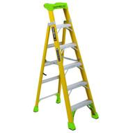 Louisville Ladder FXS1406HD Type Iaa 6 Ft Cross Step Louisville Fiberglass Step To Shelf Ladder-1