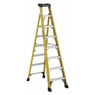 Louisville Ladder FXS1408HD Type Iaa 8 Ft Cross Step Louisville Fiberglass Step To Shelf Ladder-1