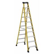 Louisville Ladder FXS1410HD Type Iaa 10 Ft Cross Step Louisville Fiberglass Step To Shelf Ladder-1