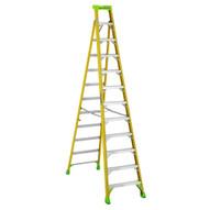 Louisville Ladder FXS1412HD Type Iaa 12 Ft Cross Step Louisville Fiberglass Step To Shelf Ladder-2