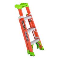 Louisville Ladder FXS1504 Type Ia 4 Ft Cross Step Louisville Fiberglass Step To Shelf Ladder-1