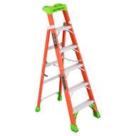 Louisville Ladder FXS1506 Type Ia 6 Ft Cross Step Louisville Fiberglass Step To Shelf Ladder-2