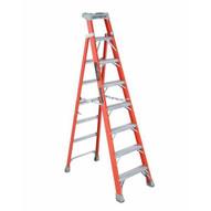 Louisville Ladder FXS1508 Type Ia 8 Ft Cross Step Louisville Fiberglass Step To Shelf Ladder-3