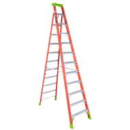 Louisville Ladder FXS1512 Type Ia 12 Ft Cross Step Louisville Fiberglass Step To Shelf Ladder-1