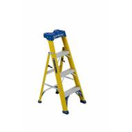 Louisville Ladder FXS2004 Type I 4 Ft Cross Step Louisville Fiberglass Step To Shelf Ladder-1