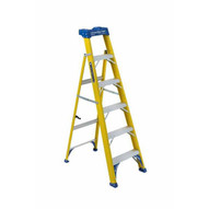 Louisville Ladder FXS2006 Type I 6 Ft Cross Step Louisville Fiberglass Step To Shelf Ladder-2