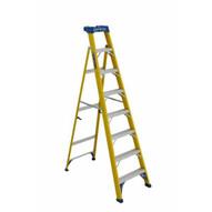 Louisville Ladder FXS2008 Type I 8 Ft Cross Step Louisville Fiberglass Step To Shelf Ladder-2