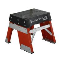 Louisville Ladder FY8001 1 Ft Fiberglass Step Stool Industrial Cap: 250 Lbs-1