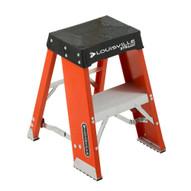 Louisville Ladder FY8002 2 Ft Fiberglass Step Stool Industrial Cap: 250 Lbs-1