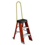 Louisville Ladder FY8003-S55S56 3 Ft Fiberglass Step Stool Industrial Cap: 250 Lbs-3