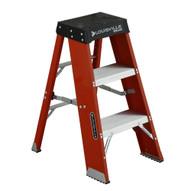 Louisville Ladder FY8003 3 Ft Fiberglass Step Stool Industrial Cap: 250 Lbs-1