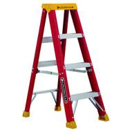 Louisville Ladder L-3016-04 4 Ft Fiberglass Standard Ladder Cap: 300 Lbs Type Ia-1