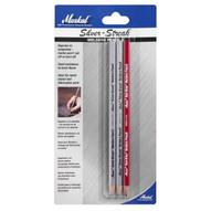 Markal 96105 Silver-streak� Welders Pencils-for Welding Metal Layout And Fabrication-redsilver 12 In Box-1