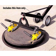 Magnetics MCL2000W06 Adjustable Manhole Dolly Lift W 6 Wheels No Magnets Hinged Design-2