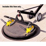Magnetics MCL2000W10 Adjustable Manhole Dolly Lift W 10 Wheels No Magnets Hinged Design-1