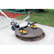 Magnetics MCL3000W10 Aluminum Adjustable Manhole Dolly Lift W 10 Wheels No Magnets Hinged Design-2