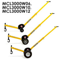Magnetics MCL3000W12 Aluminum Adjustable Manhole Dolly Lift W 12 Wheels-1