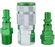 Milton S-303AKIT 3 Piece A-style 14 Npt Greencolorfit Coupler & Plug Kit-1