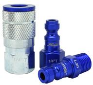 Milton S-303TKIT 3 Piece T-style 14 Npt Bluecolorfit Coupler & Plug Kit-1