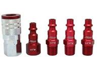 Milton S-305MKIT 5 Piece M-style 14 Npt Redcolorfit Coupler & Plug Kit-1