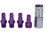 Milton S-305VKIT 5 Piece Hi-flo V-style 14npt Purple Colorfit-mega-flow-1