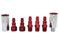 Milton S-307MKIT 7 Piece M-style 14 Npt Redcolorfit Coupler & Plug Kit-1