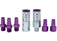 Milton S-307VKIT 7 Piece Hi-flo V-style 14npt Purple Colorfit-mega-flow-1