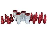 Milton S-314MKIT 14 Piece M-style 14 Npt Redcolorfit Coupler & Plug Kit-1