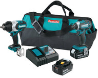 Makita XT270 18v Lxt� 12 Impact And Hex14 Impact Driver Kit-1
