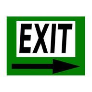 Mighty Line exitarrowg1624 Exit Sign-1