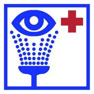 Mighty Line eyewashstationb24 Eye Washing Station Location Sign-1