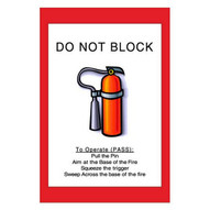 Mighty Line fe2436 Do Not Block Fire Extinguisher Sign-1