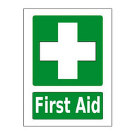 Mighty Line firstaidg2436 First Aid Station Sign Green-1