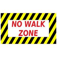 Mighty Line nowalkzone1624 No Walk Zone Sign-1