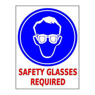 Mighty Line safetyglassesreq2436 Safety Glasses Required Sign-1