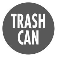 Mighty Line trashcangrey16 Trash Can Sign-1