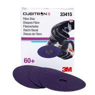 3m Company 33415 5 X 7 8 Cubitron�ii 60gabrasive Fibre Disc Box Of 5-1