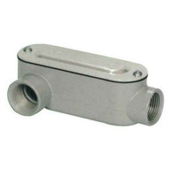 Morris Products 14098 Aluminum Rigid Conduit Bodies Lr Type - Threaded With Cover & Gasket 3-12-1