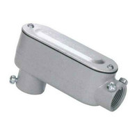 Morris Products 14249 Aluminum Combination Conduit Bodies Lb Type - Threaded & Set Screw With Cover & Gasket 1-14-1