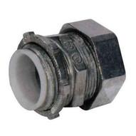 Morris Products 14929 Emt Compression Connectors - Zinc Die Cast - Insulated Throat 4-1