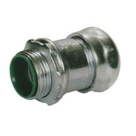 Morris Products 14954 Steel Emt Compression Connectors With Insulated Throat 1-12-1