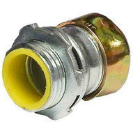 Morris Products 14983 Steel Emt Rain Tight Compression Connectors - Insulated Throat 1-14-1