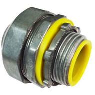 Morris Products 15259 Liquid Tight Connectors - Straight - Insulated Throat - Zinc Die Cast 3-1