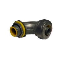 Morris Products 15295 90&deg Liquid Tight Connectors - Insulated Throat - Zinc Die Cast 1-14-1