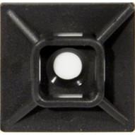 Morris Products 20357 Self-adhesive Tie Mounts Uv Black 1.1 X 1.1 (100 Piece Pack)-1