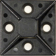 Morris Products 20359 Self-adhesive Tie Mounts Uv Black 1.5 X 1.5 (100 Piece Pack)-1