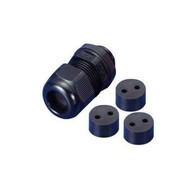 Morris Products 22237 Nylon Cable Glands - Multi-conductor - Npt Thread 2 Hole 12 .157 - .240-1