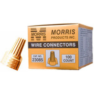 Morris Products 23085 Twisted Wing Connectors Tan Boxed 100 Pack (100 Piece Pack)-1