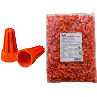 Morris Products 23173 Screw-on Wire Connectors P3 Orange Bagged 500 Bulk Pack (500 Piece Pack)-1
